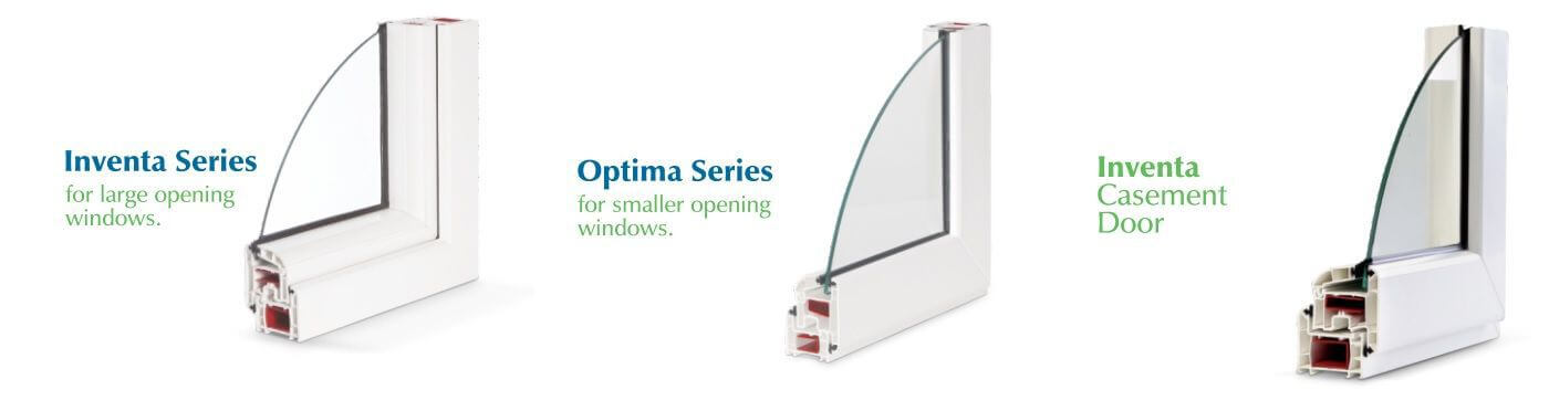 Inventa Optima uPVC Windows & Doors profiles structures designed for South Africa