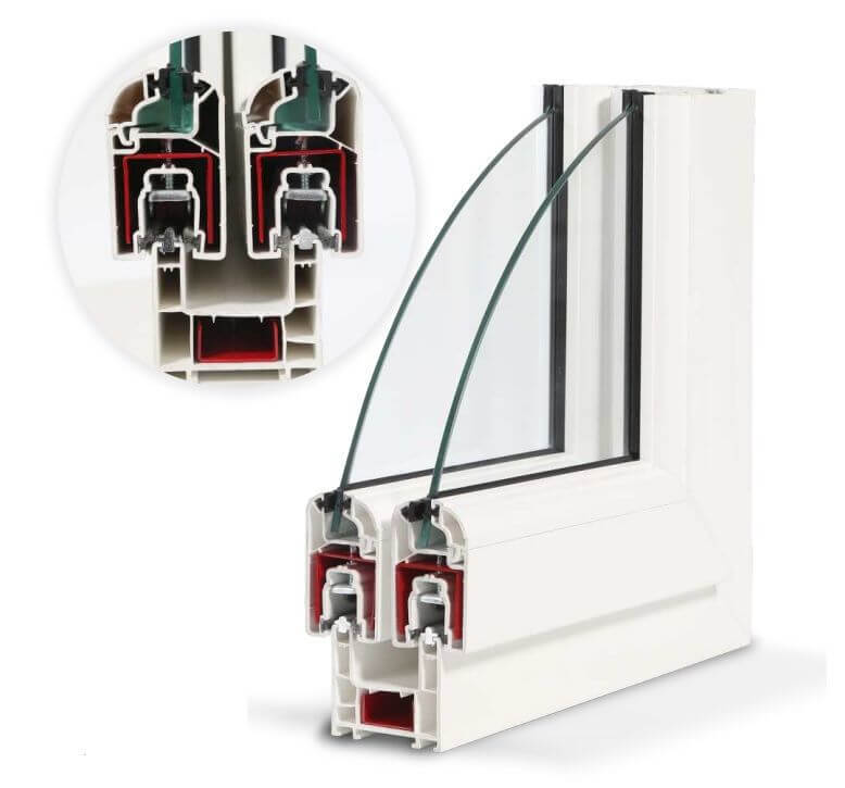 Inventa Sliding uPVC Windows & Doors Profile Structure Option 1