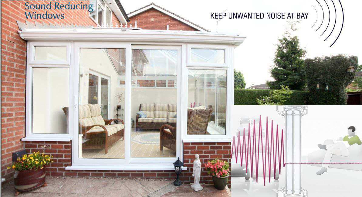 uPVC Windows & Doors Double Glazed Noise proof unlike aluminium frames leak sound