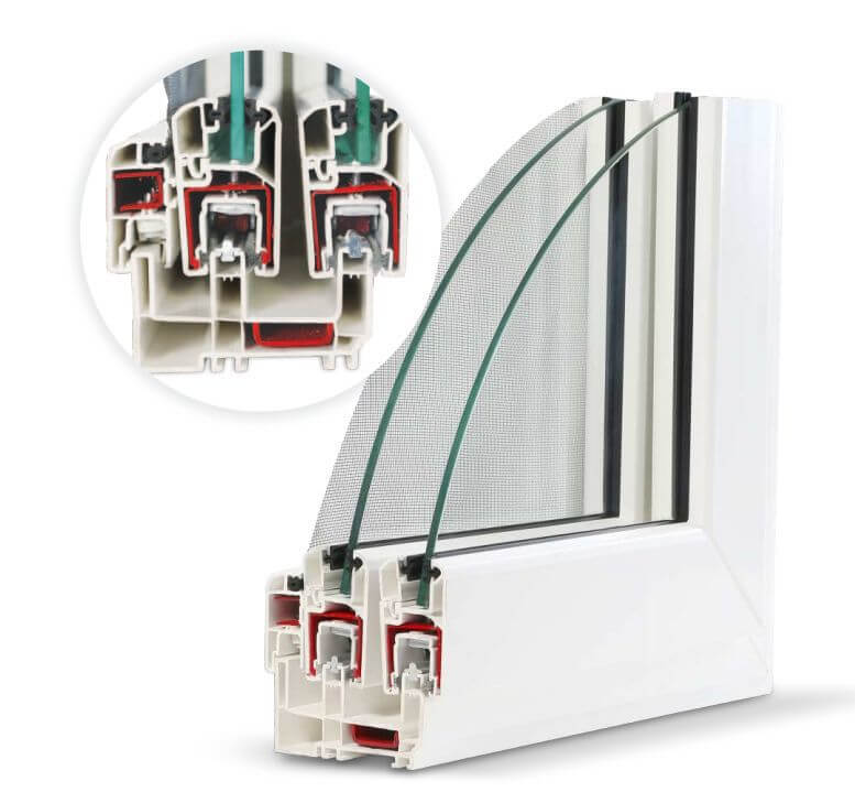 Optima Sliding uPVC Windows & Doors Profile Structure Option 1